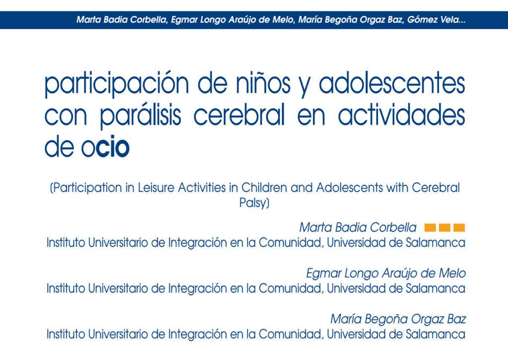Participación de niños y adolescentes con parálisis cerebral en actividades de ocio