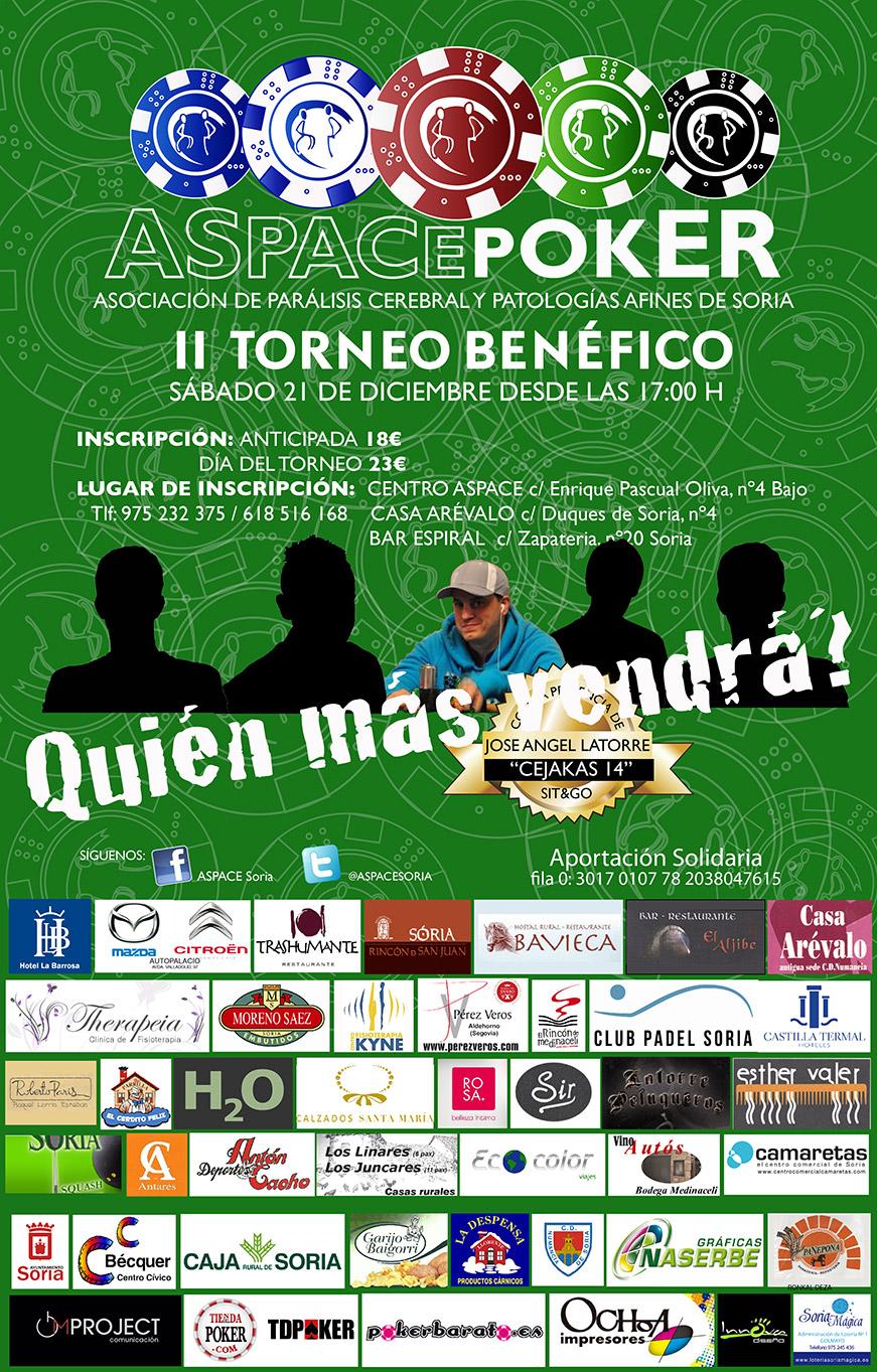 II Torneo Benéfico de Poker en beneficio de ASPACE Soria