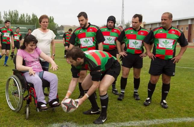 La parálisis cerebral protagonista de un partido de rugby