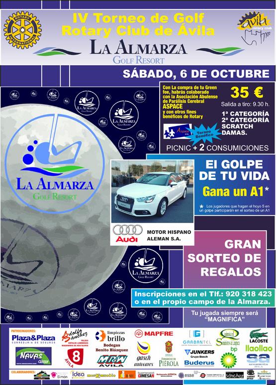 Torneo de Golf benéfico el próximo 6 de octubre a beneficio de ASPACE Ávila