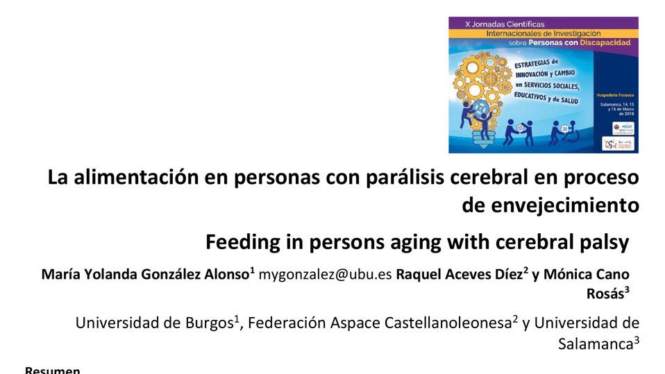 La alimentación en personas con parálisis cerebral en proceso de envejecimiento