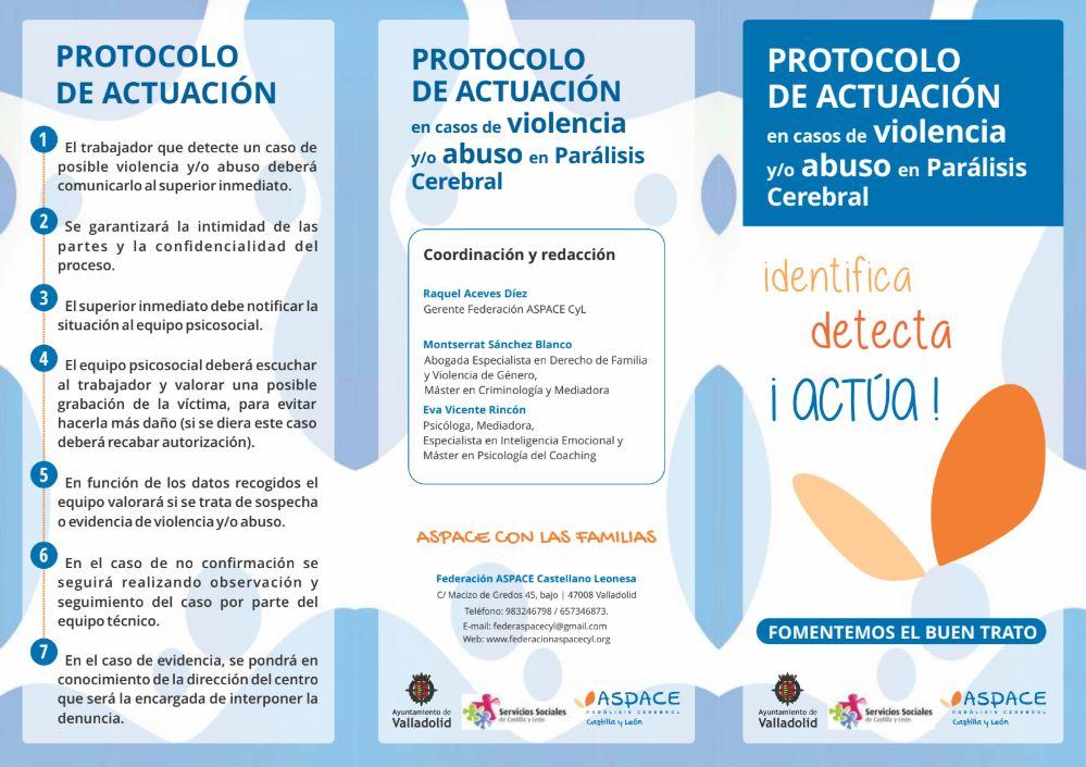 Protocolo de actuación en casos de violencia y/o abuso en Parálisis Cerebral
