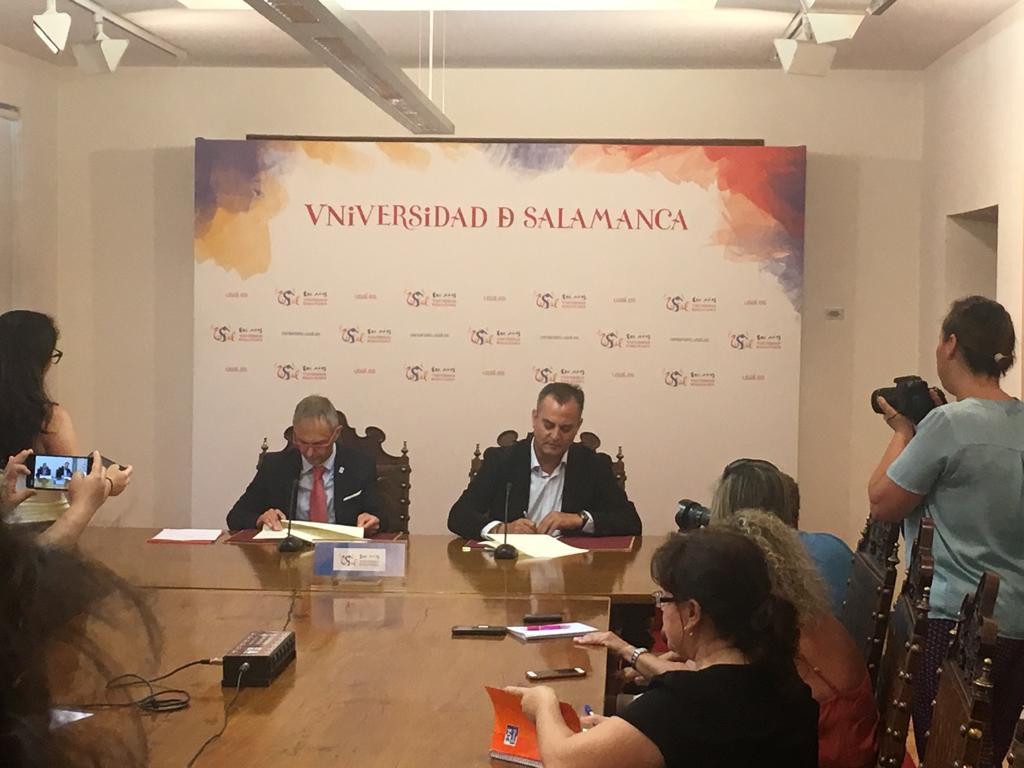 La Universidad de Salamanca y la Federación ASPACE Castellano Leonesa suscriben un convenio básico de colaboración